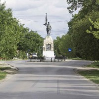 Sintești sat, Vidra comuna - Statuie dedicată Eroilor din Primul Război Mondial