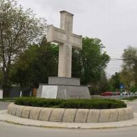 Buftea, oraș - Crucea comemorativă a  Eroilor căzuți în primul război mondial