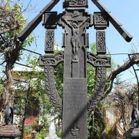 Nefliu Vârteju, oraș Măgurele - Troiță de lemn dedicată eroilor din cele două războaie mondiale